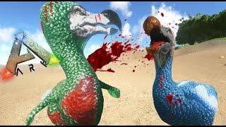 DODOS GLADIADORES!! BATALLA A MUERTE -  ARK survival Evolved #6 - Nexxuz