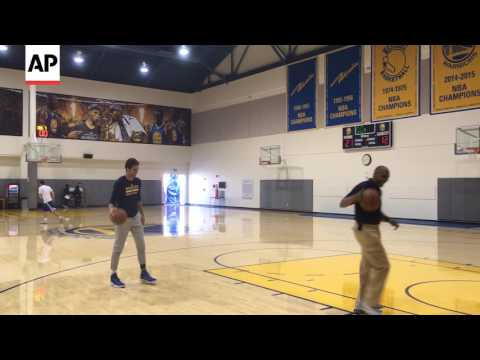 Raw Video: Warriors GM Bob Myers Shoots Around