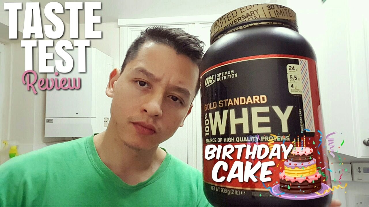 Optimum Nutrition Gold Standard 100% Whey Protein - BIRTHDAY CAKE FLAVOUR | Taste Test Review