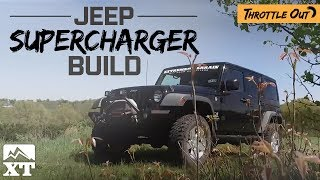 2007 Jeep Wrangler JK Sprintex 3.8L Supercharger Kit Build - Throttle Out