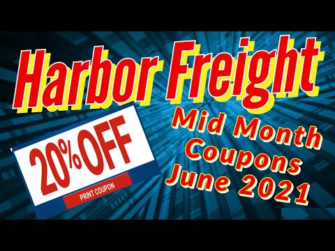 Harbor Freight Coupons June 2021 Mid Month Specials Plus 20% Off Coupon