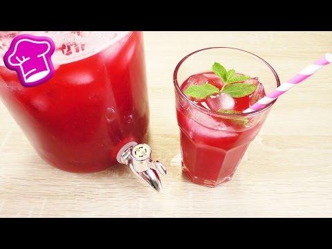 Himbeer EISTEE mit Pfefferminze | 2 Liter Eistee super einfach selber machen | Sommer Party Idee