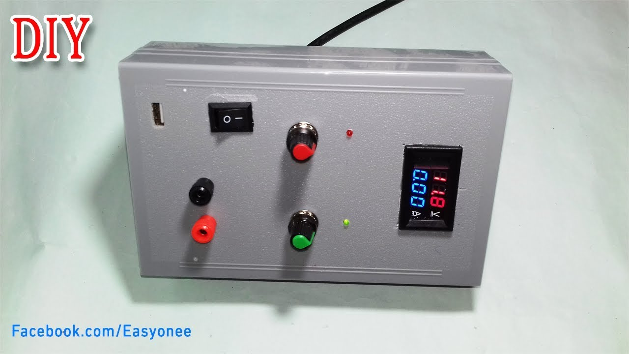 Power Supply With Adjustable Voltage And Current 5 Amp