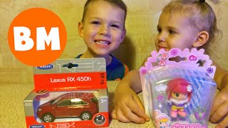 Машинка Welly и кукла Pinypon I Unboxing toys Welly car and Pinypon doll