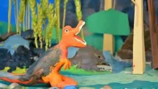Пластилиновый мультфильм про динозавров