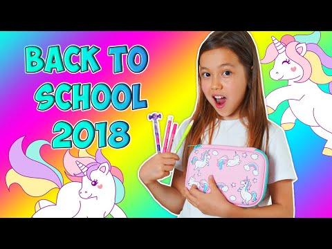 видео: back to school 2018/Мои Покупки К Школе Моя unicorn Канцелярия