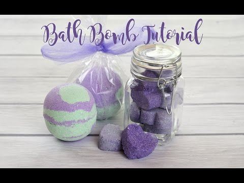 How to make bath bombs. Lavender & Mint Bath Bomb Tutorial