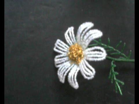 Цветок из бисера. Бисероплетение.  Мастер - класс / Flowers from beads. Beading