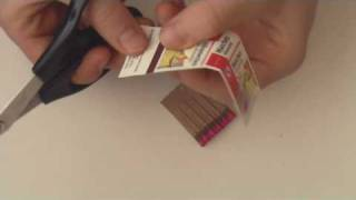 Making A Pull Ring Fuse Out Of A Book Of Matches - HD