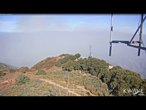Live camera from Santiago Peak of Holy Fire