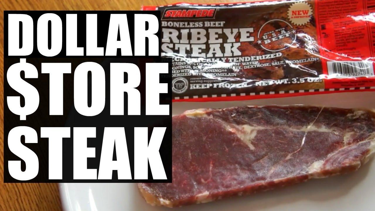DOLLAR $TORE STEAK | $1 Ribeye Taste Test - YouTube