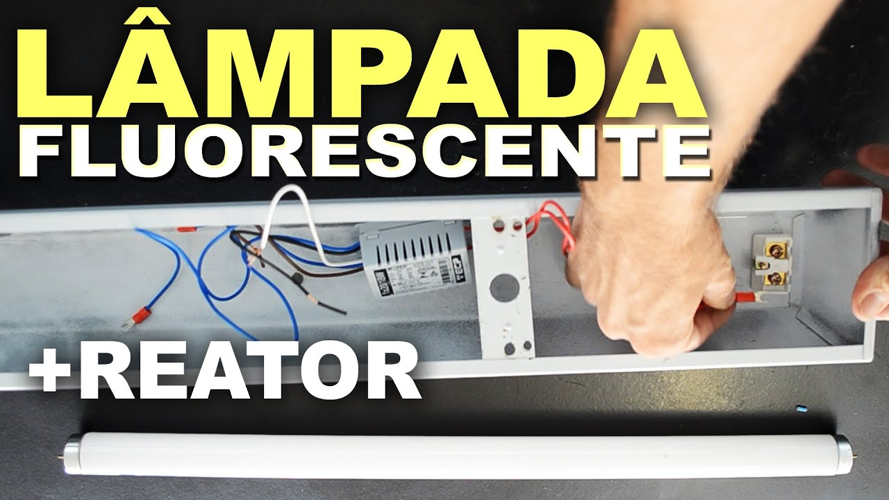 Como instalar l mpada fluorescente com reator youtube for Como poner un vivero