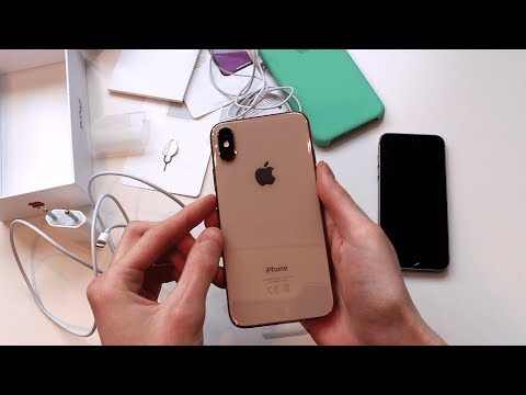 Распаковка Apple IPhone XS 64GB Gold