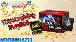 Madden Mobile Thanksgiving Bundle!! Blitz Ticket Topper!!