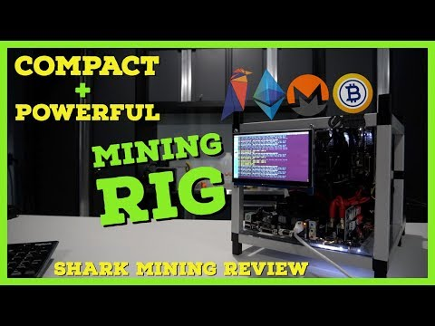 The Most Compact + Powerful GPU Miner - Shark Mining 4x 1080 TI Mining Rig | 200+ Mh/s