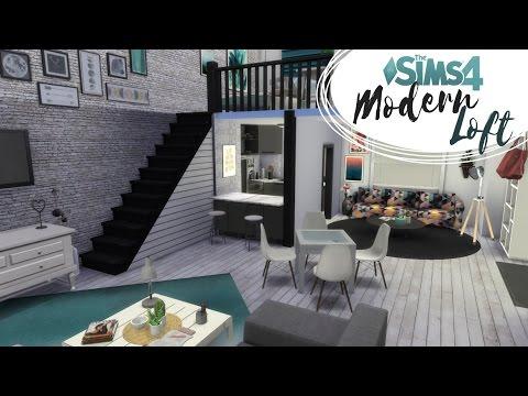 Loft Nowoczesny - The Sims 4 Speed Build: Lofty