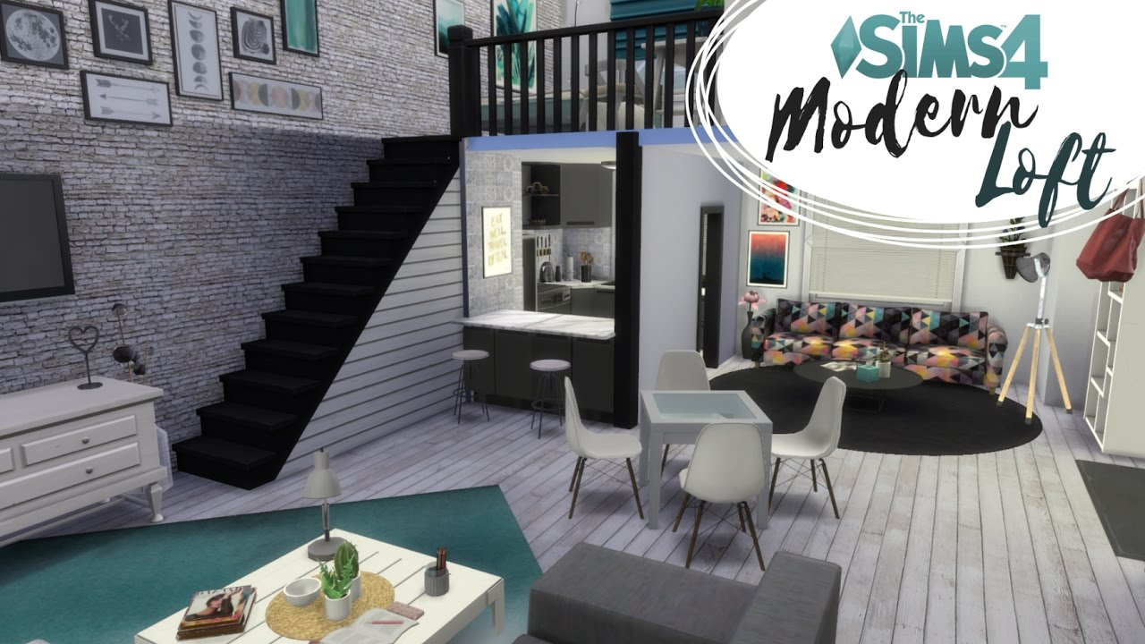 Loft Nowoczesny The Sims 4 Speed Build Lofty
