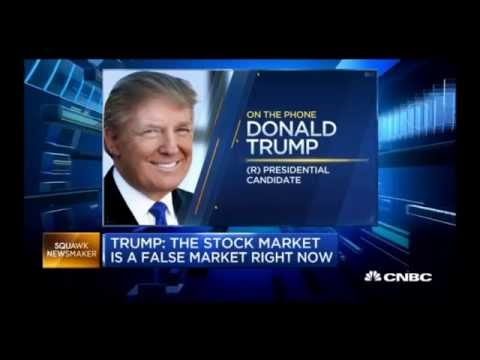 "Donald Trump to Shake up Federal Reserve & Replace Janet Yellen ""I Believe this is a False Market"""