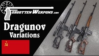 Dragunov Variations: Military SVD, Izhmash Tiger, Chinese NDM-86