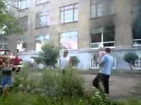 Пожар в магазине ТВЦ Верещагино Пермский край ч.2