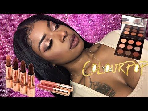 Karrueche X Colourpop Brown Sugar Collection Makeup Tutorial for Black Women