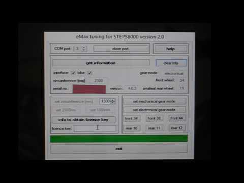 Tuning von STEPS E8000 mit elektronischer Di2 Gangschaltung