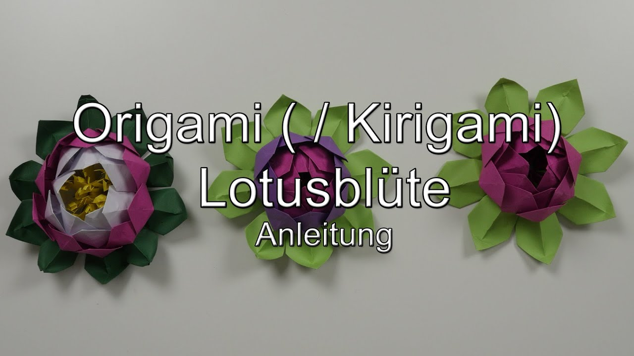 Origami Anleitung Leicht Anleitung: Origami ( / Kirigami) Lotusblüte / -blume - Youtube