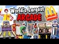 Playing Arcade Games at the World's Largest McDonald's!