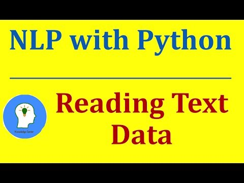 Reading Text Data | Natural Language Processing With Python And NLTK