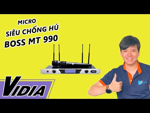 Micro Không Dây Với Khả Năng Chống Hú Cực TốtBoss MT990Vidia Channel