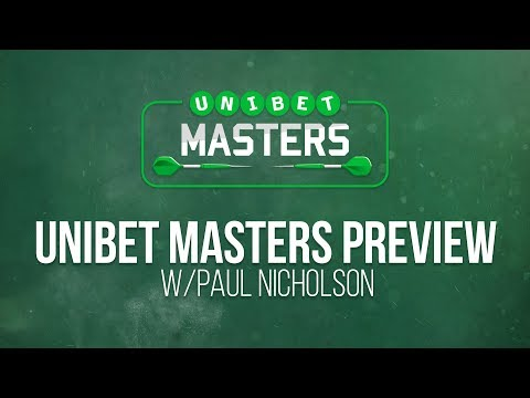 Live Darts TV Unibet Masters 2018 Preview with Paul Nicholson
