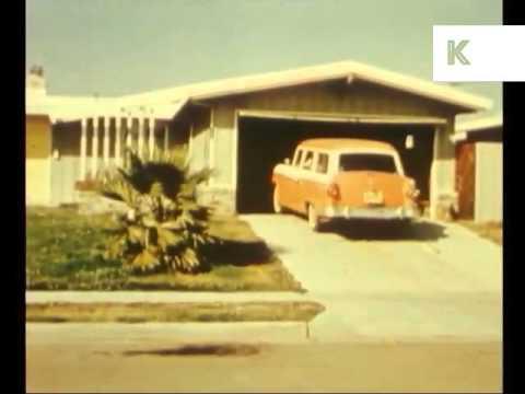 1950s Suburban Life in California, Americana, Suburbs