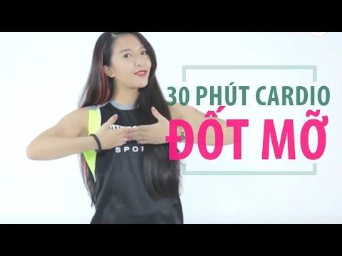 Cardio đốt mỡ với 30 phút mỗi ngày | Hana Giang Anh | Workout #24
