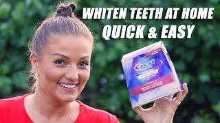 Teeth Whitening using Crest 3D White Strips! Tips for Sensitive Teeth
