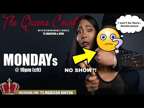 Khia WILL NOT be joining TS MADISON on THE QUEENS COURT Monday Night!