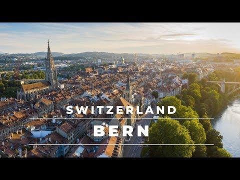 Bern Switzerland in 4k - Views from above of this beautiful city   Switzerland Travel