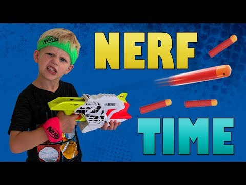 Nerf Nitro Playtime with Michael