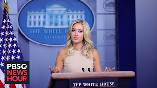 WATCH LIVE: White House press secretary Kayleigh McEnany gives news briefing