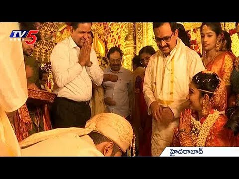 TV5 Chairman BR Naidu Attends Bharathi Cement Director Ravinder Reddy Daughter Marriage | TV5 News