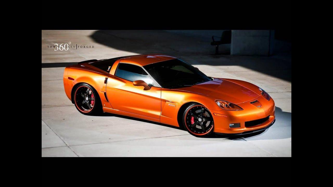 Atomic Orange Corvette Z06 On 360 Forged Cf Straight 5