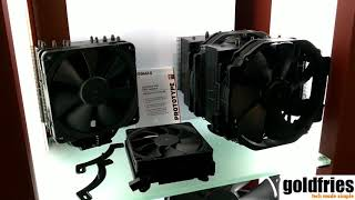 Noctua's Chromax Line Coolers - Black Variants of NH-D15,  NH-U12S and NH-L9i at Computex 2018