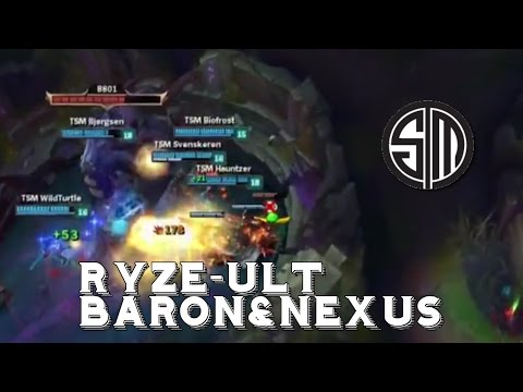 TSM rushing Baron&Nexus with the Ryze-Ult