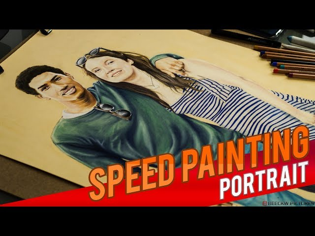 Drawing Mamy & Justine [Speed painting]
