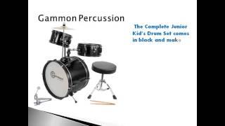 Grammon Percussion Black Junior Drum Set With Cymbals Review | Kids Drum Set