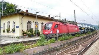 Bahnhof Guntershausen - Eisenbahnknotenpunkt südlich von Kassel