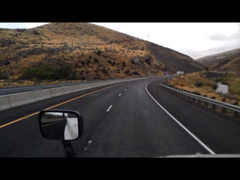 Interstate 84 East as we roll past Weatherby, Dixie, and Lime, Oregon