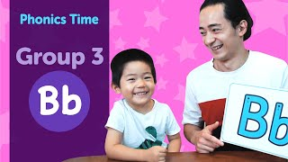 Group 3: Bb | Phonics Time with Masa and Junya | Made by Red Cat Reading