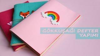 Gökkuşağı Defter Yapımı | KENDİN YAP | DIY | Rainbow Notebook