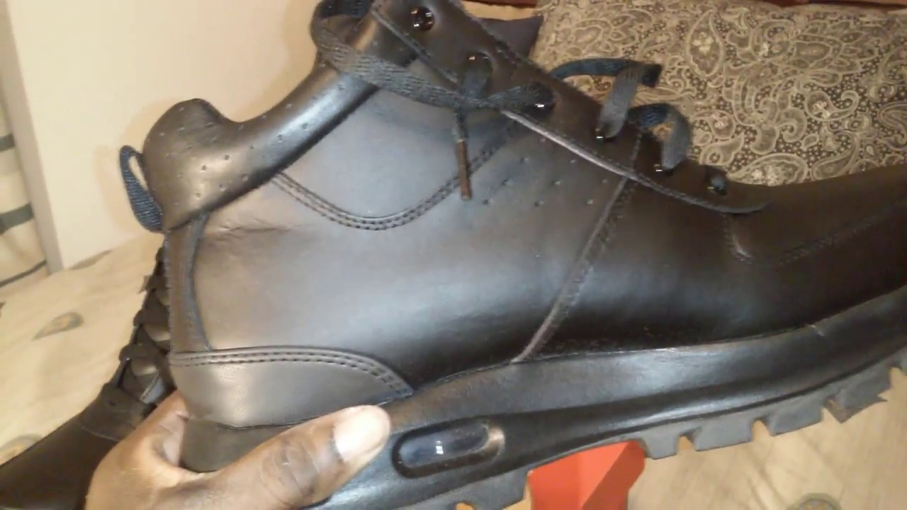 93cc5bdceb46 Sneaker Collection  Air Max Goaterra Black Boot Video 297 - YouTube