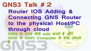 GNS3 Talk 2 # Connecting GNS3 Router to Physical PC & Adding ISO image into GNS3
